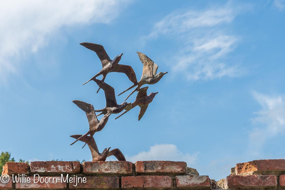 vogels muur